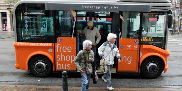Bruxelles: Les free shopping bus rencontrent un franc succès - La DH