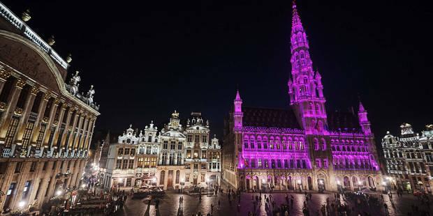 Pourquoi la Grand-Place de Bruxelles est devenue rose hier soir - La DH