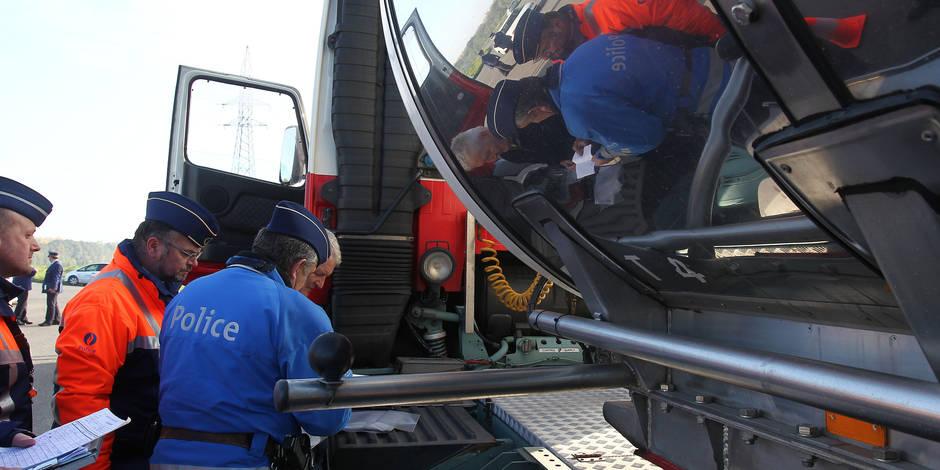 Borinage: Dix camions en défaut verbalisés pour plus de 16.000 € !