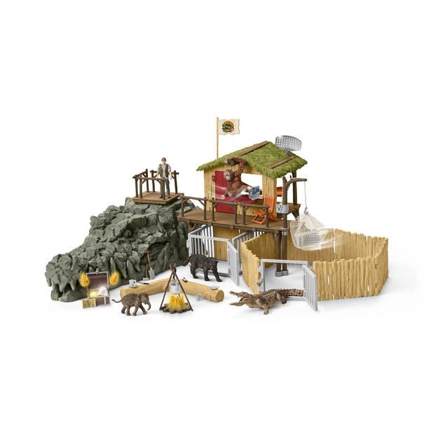 Univers de jeu : Station de recherche croco dans la jungle - Schleich (Puppy)