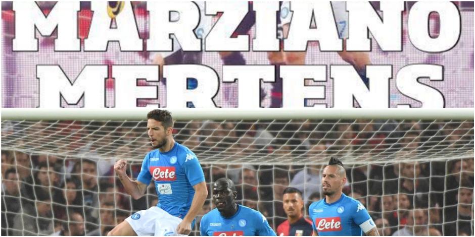"""Mertens en feu contre Gênes, la presse italienne s'enflamme pour le """"martien"""" du Napoli"""