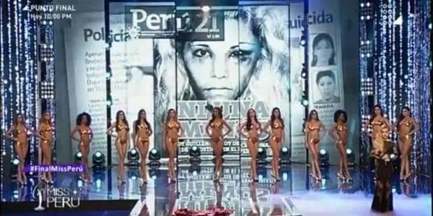 Au Pérou, Les Miss dénoncent les violences faites aux femmes en direct - La DH