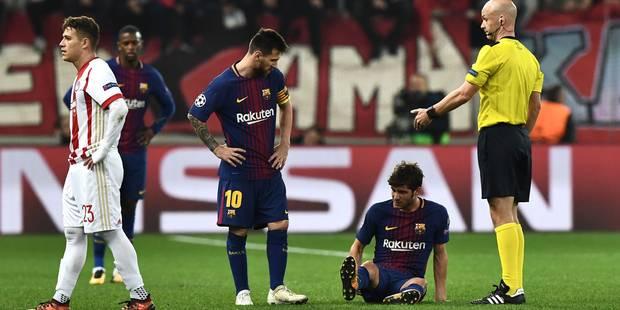 Barcelone perd Roberto et Gomes: l'infirmerie est pleine ! - La DH