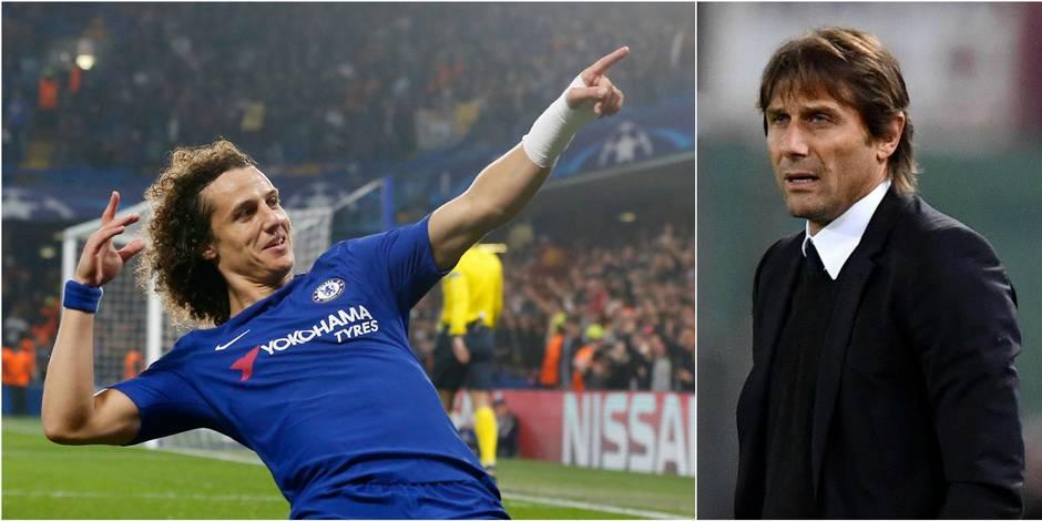 """Antonio Conte """"ne sait pas"""" si David Luiz a un avenir à Chelsea"""