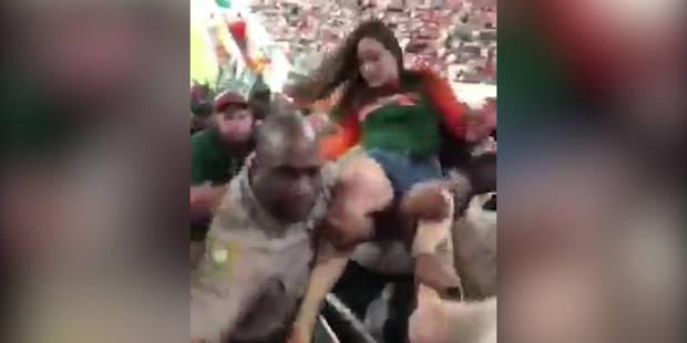 Une femme ivre frappe un policier (VIDEO) - La DH