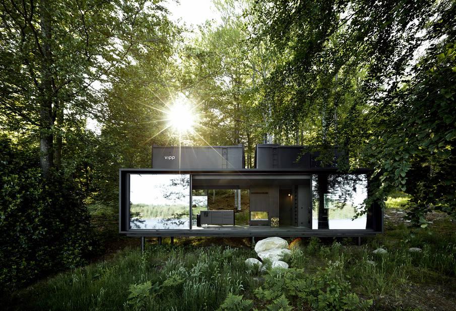 Au coeur de la forêt en Suède, un abri total design