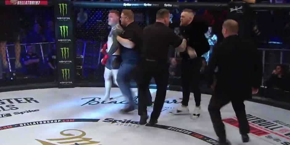 Conor McGregor monte sur le ring et s'en prend à un arbitre (VIDEO)