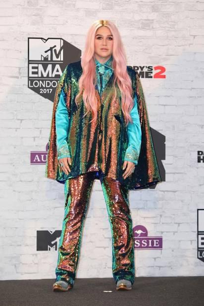 Kesha a sorti les paillettes