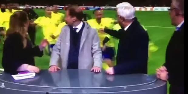 En pleine euphorie, les joueurs suédois détruisent un plateau télé (VIDEO) - La DH