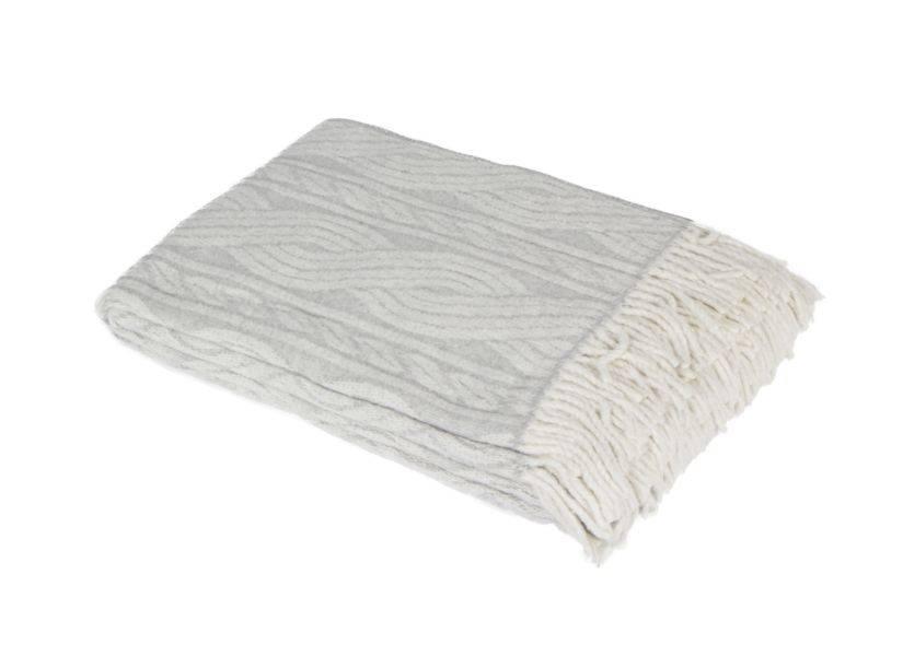 Un plaid en tissu gris anthracite. Weba, 24,90€.