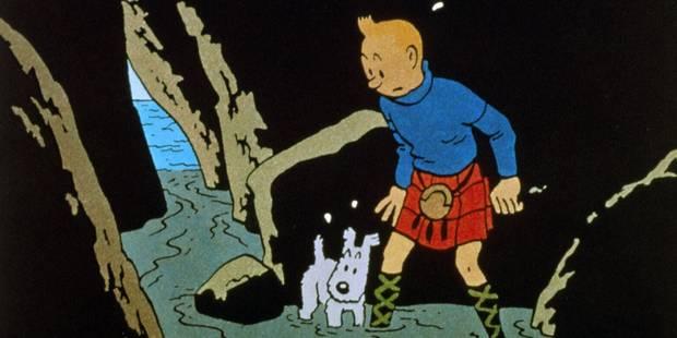 Un dessin de Hergé avec Tintin et Milou adjugé un demi-million d'euros - La DH