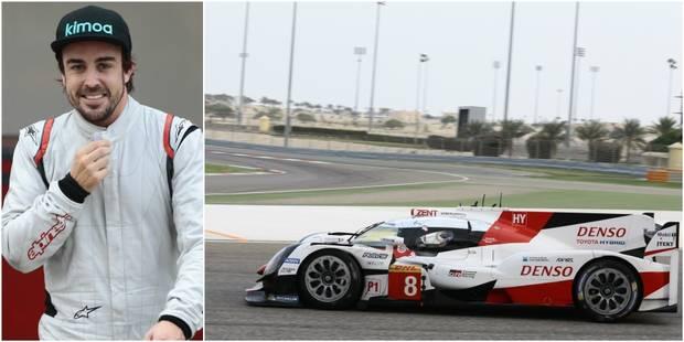 """Alonso a testé la Toyota LMP1: """"Une voiture formidable à piloter!"""" - La DH"""
