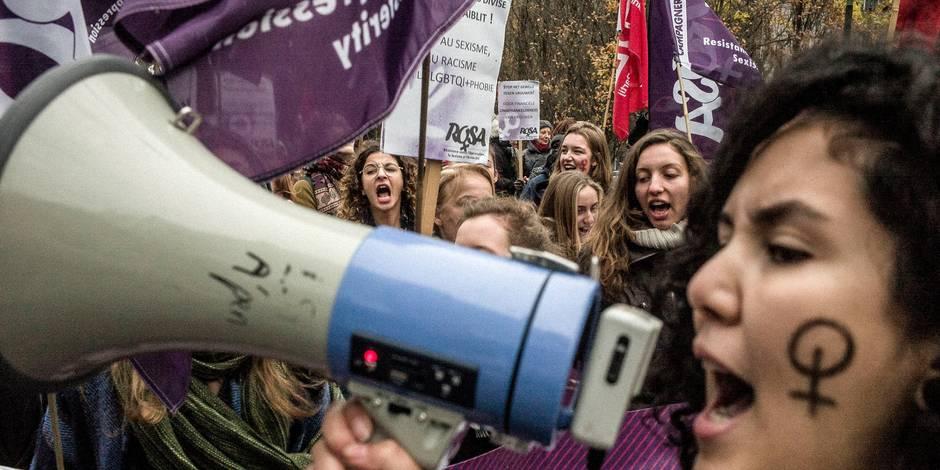 2.000 personnes manifestent à Bruxelles contre les violences faites aux femmes