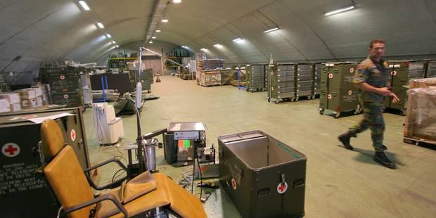 Exercice anti-terrorisme en cours à la pharmacie militaire de Nivelles et à Bierset - La DH