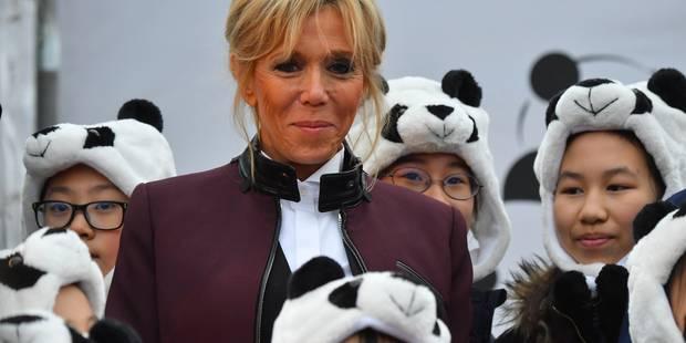 Premier discours officiel pour Brigitte Macron lors du baptême d'un bébé panda - La DH