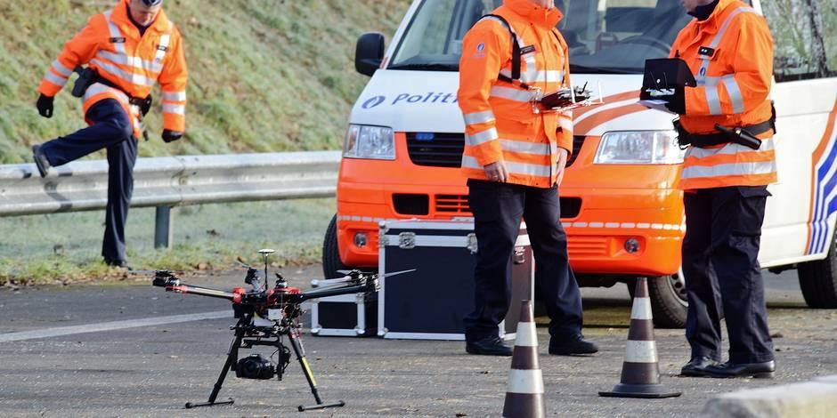 Les drones de la police bientôt utilisés en Wallonie - La DH