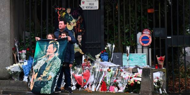 La dépouille de Johnny Hallyday au funérarium du Mont-Valérien - La DH