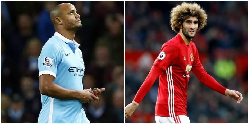 Marouane Fellaini et Vincent Kompany incertains avant le derby de Manchester