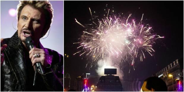 Bruxelles: Le feu d'artifice du Nouvel An rendra hommage à Johnny Hallyday - La DH
