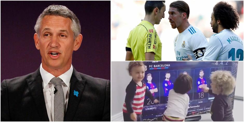 Lineker moqueur, la pique de Ramos, la joie des enfants Vermaelen: les insolites du choc Real - Barça