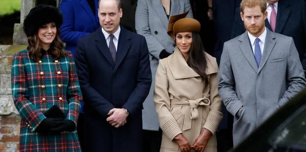 Première sortie à quatre, le jour de Noël, pour William, Harry, Kate et Meghan (PHOTOS) - La DH