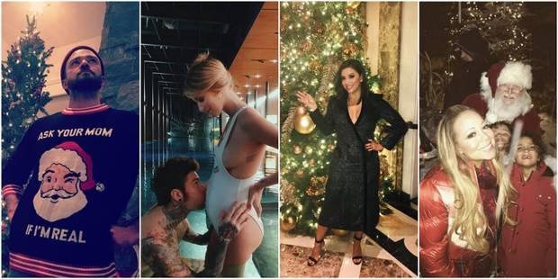 Sexy, drôles, loufoques : les people ont fêté Noël - La DH