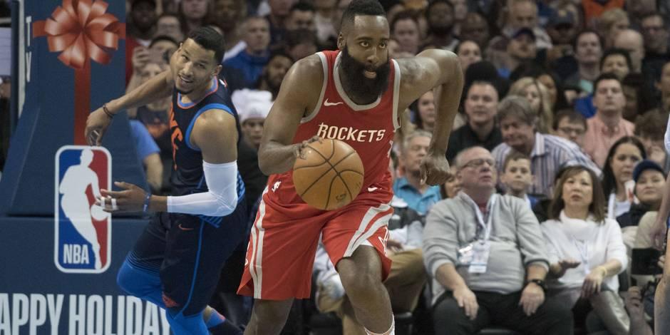 NBA: Harden blessé, absent au moins deux semaines