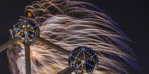 Le feu d'artifice du Nouvel An a attiré près de 45.000 spectateurs au pied de l'Atomium - La DH