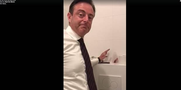 Quand Bart De Wever joue à Star Wars dans les toilettes... (VIDEO) - La DH