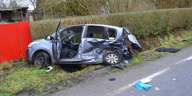 Lessines: accident de la circulation sur la N57, une conductrice dans un état grave - La DH