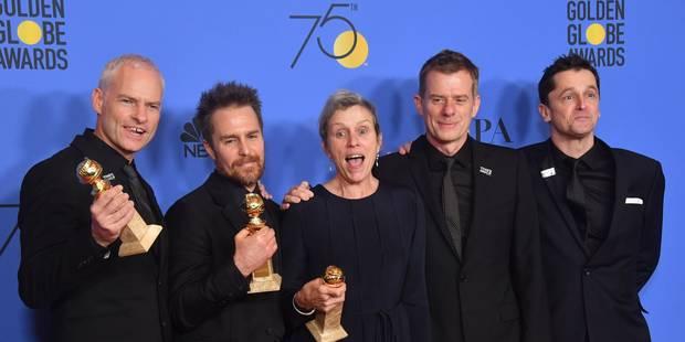 """Golden Globes: carton plein pour """"Three Billboards - Les panneaux de la vengeance"""" dont le prix du meilleur film dramati..."""