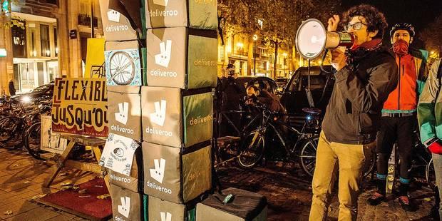Les livreurs de Deliveroo en grève - La DH