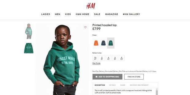 H&M retire un sweat-shirt après des critiques pour racisme - La DH