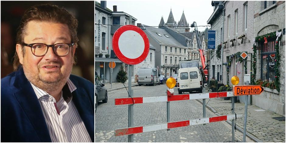 Coucke fait des travaux à Durbuy: Traverser la ville est devenu impossible