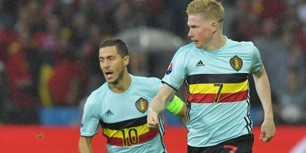 De Bruyne et Hazard élus par les fans dans le onze UEFA de l'année - La DH