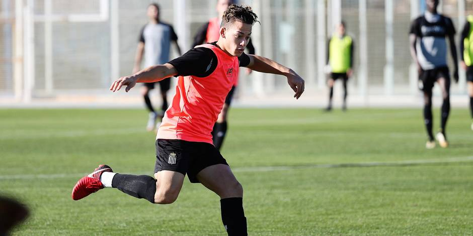 Charleroi's Christian Benavente pictured during the second day of the winter training camp of Belgian first division soccer team Royal Charleroi Sporting Club, in San Pedro del Pinatar, Murcia, Spain, Sunday 07 January 2018. BELGA PHOTO VIRGINIE LEFOUR
