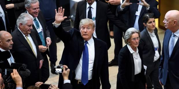 """Donald Trump arrivé à Davos, """"dans la gueule du loup"""" - La DH"""