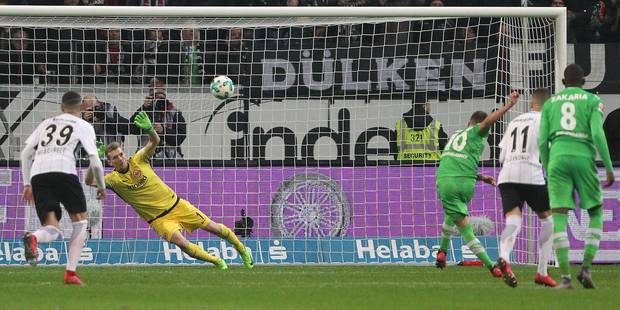 Belges à l'étranger: Francfort bat 'Gladbach, Thorgan Hazard loupe un penalty - La DH