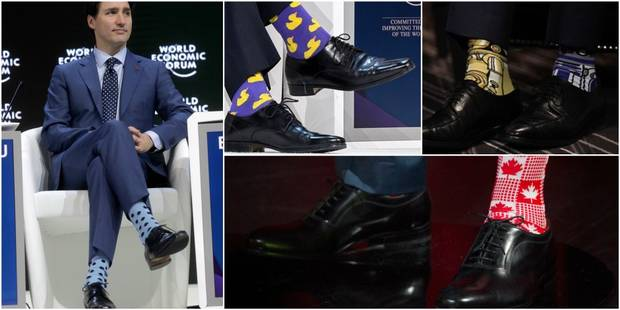 Justin Trudeau étonne encore et toujours avec ses chaussettes - La DH