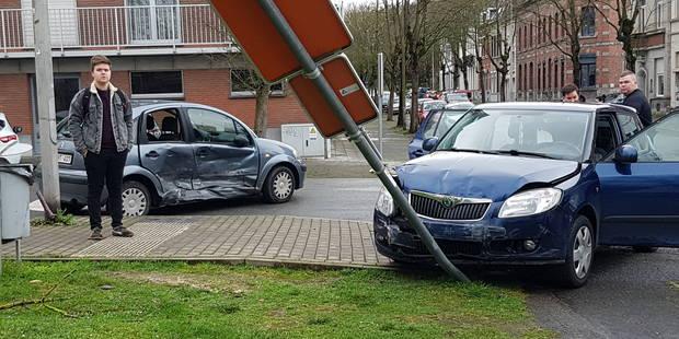 Tournai : impressionnant accident près du palais de justice - La DH