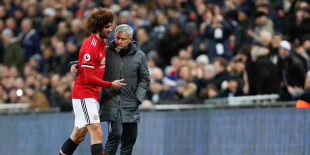 Fellaini sort blessé après 7 minutes face à Tottenham: Mourinho donne des nouvelles du Diable - La DH
