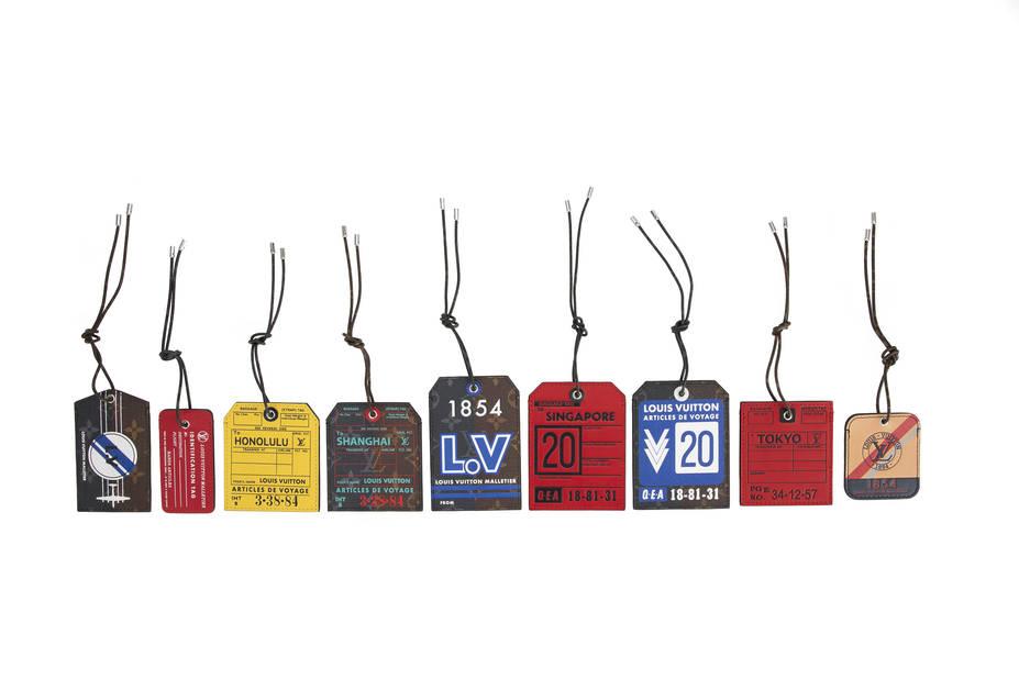 Etiquettes pour personnaliser ses bagages, Louis Vuitton, pnc.