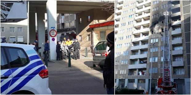 Important incendie dans un immeuble de la rue Haute à Bruxelles - La DH