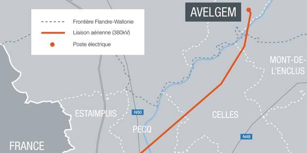 Elia a introduit sa demande de permis d'urbanisme pour le projet de liaison aérienne reliant Avelgem à Avelin - La DH
