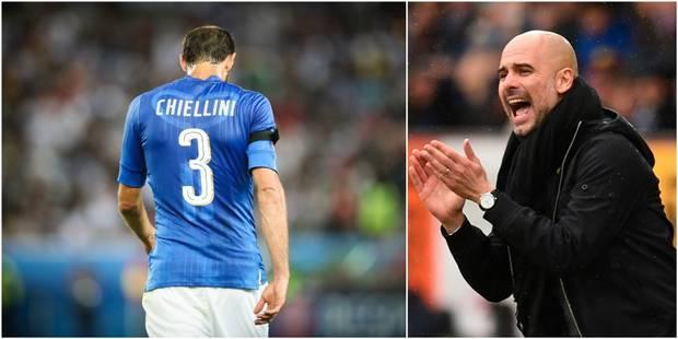 Pour Chiellini, Guardiola est coupable de la non-qualification de l'Italie au Mondial - La DH