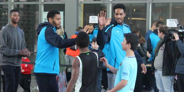 Frameries : Les basketteurs de Mons-Hainaut ont affronté les enfants (PHOTOS+VIDEO) - La DH