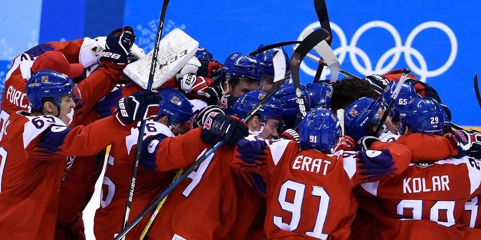 Les Tchèques sortent les Américains du tournoi de hockey olympique