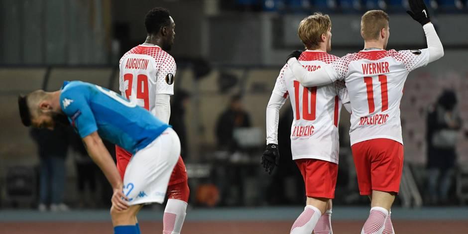 Europa League: Naples menacé à Leipzig et Dortmund sur ses gardes à l'Atalanta en 16es de finale retour