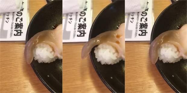Il commande des sushis, l'un d'entre eux se met à bouger dans son assiette (VIDEO) - La DH