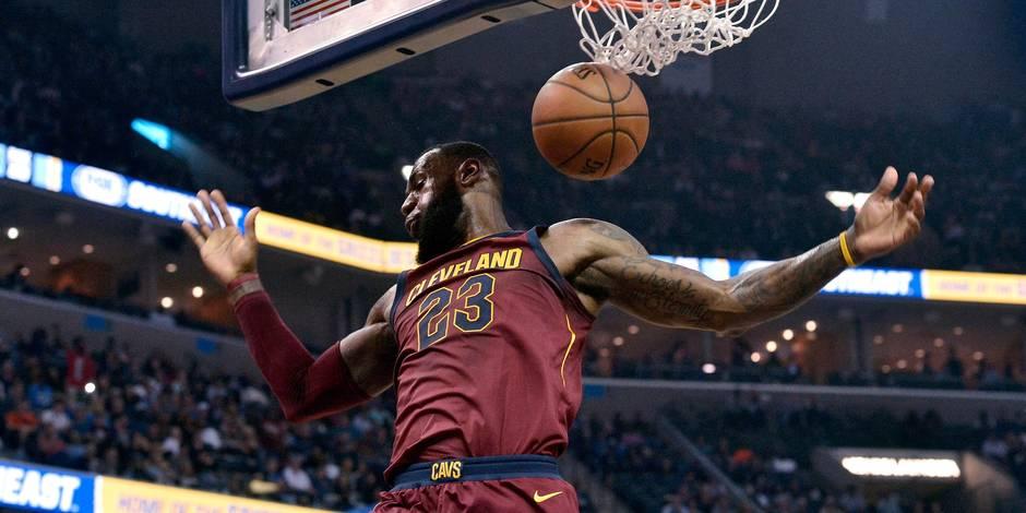 NBA: les Cavaliers l'emporte, LeBron James entre un peu plus dans l'histoire